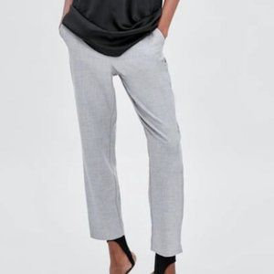 Zara Straight Leg Elastic Waist Trousers XS EUC